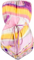 Emilio Pucci abstract print silk handkerchief top