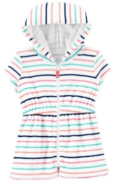 Carter's Baby Girls Striped Hooded Cover-Up