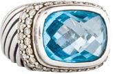 David Yurman Topaz & Diamond Ring