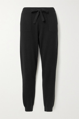 Allude Cashmere Track Pants - Black