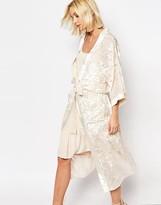 Gestuz Missy Longline Kimono in Velvet Burnout