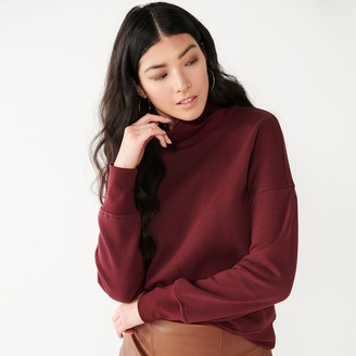 Nine West Women's Oversized Turtleneck Sweatshirt