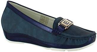 Laura Biagiotti Women 727 Loafers Blue Size: