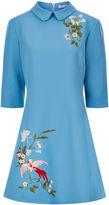 Vivetta Sky Blue Pino Embroidered Dress
