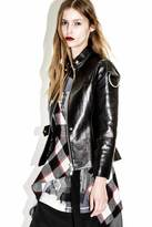 3.1 Phillip Lim Sculpted Leather Jacket with Flight Details