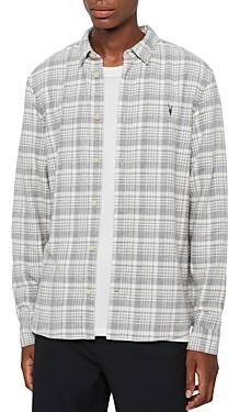 AllSaints Maupin Cotton Brushed-Flannel Plaid Shirt