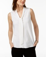 Thumbnail for your product : Kasper Tie-Neck Top