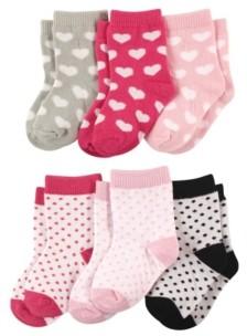 Luvable Friends Crew Socks, 6-Pack, 0-24 Months