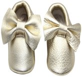 Happy Cherry Infant Baby Moccasins Soft Sole Anti-Slip Genuine Leather Bow Tassels Prewalker Toddler Shoes - Size 12