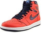 Nike Jordan Men's Air Jordan 1 Retro High OG Lt Crmsn/Mid Nvy/Unvrsty Bl/Wh Basketball Shoe Men US