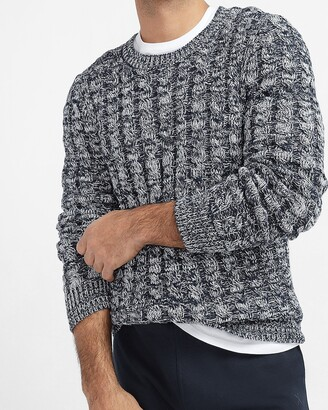 Express Micro Cable Knit Crew Neck Sweater
