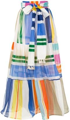 Silvia Tcherassi Binasco geometric-print tiered skirt