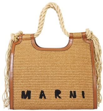Marni Braided Handle Top Bag