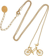 Alex Monroe 22-karat gold-plated sterling silver bicycle necklace
