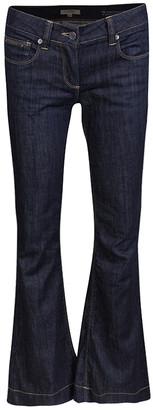 Burberry Indigo Dark Wash Denim Flared Bottom Windsor Jeans M
