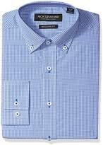 Nick Graham Men's Mini Window Check Dress Shirt