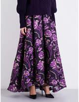 Temperley London Elsa high-rise cloqué maxi skirt