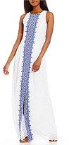 Antonio Melani Bliss Textured Chiffon Maxi Dress