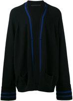 Haider Ackermann contrast stripe cardigan - men - Cashmere/Virgin Wool - XS