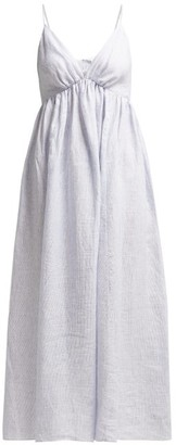 Loup Charmant Adelaide Linen Dress - Womens - Blue