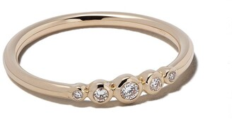 Astley Clarke 14kt gold diamond mini Icon Nova ring