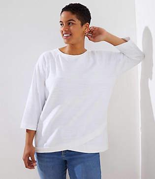 LOFT Plus Eyelet Crossover Sweatshirt