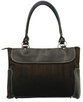 G. Pacific Women's Suede Business Computer Tote - Brown