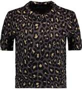 Marc by Marc Jacobs Metallic Leopard Print Wool-Blend Top