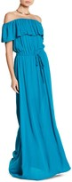 S.H.E. Off-the-Shoulder Gauze Maxi Dress