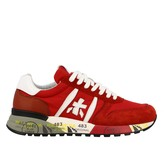 Premiata Lander Sneakers In Suede And Nylon With Logo
