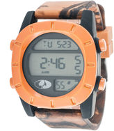 JCPenney Mossy Oak Mens Orange Bezel Camouflage Silicone Strap Sport Watch