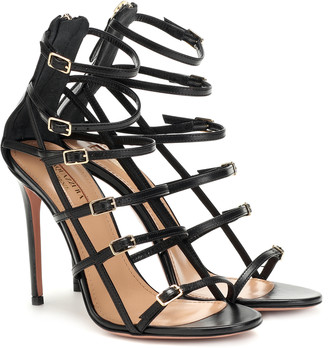 Aquazzura Super Model 105 leather sandals