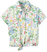 Carter's Floral-Print Tie-Front Shirt, Toddler Girls (2T-4T)