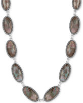 Lucky Brand Silver-Tone Mother-of-Pearl-Look Collar Necklace