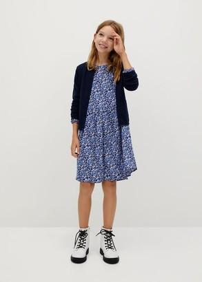 MANGO Flowy flower printed dress blue - 6 - Kids