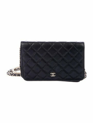 Chanel 2018 Pearl Wallet On Chain Black