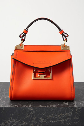 Givenchy Mystic Mini Textured-leather Tote - Orange