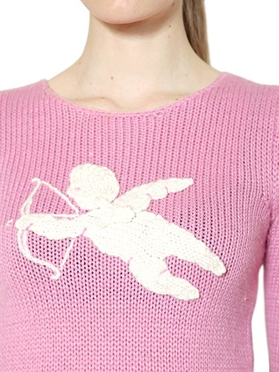 Moschino Cheap & Chic Embroidered Wool And Alpaca Sweater