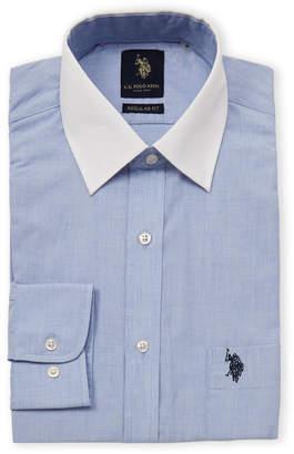 U.S. Polo Assn. Regular Fit Contrast Long Sleeve Dress Shirt