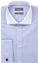 John Lewis Luxury Royal Oxford Winchester Tailored Fit Shirt, Blue