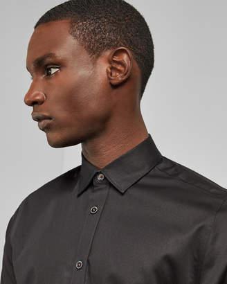 Ted Baker OTTA Satin effect cotton stretch shirt