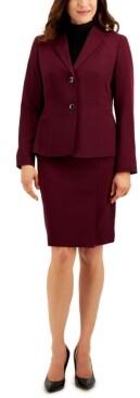 Le Suit Petite Two-Button Skirt Suit