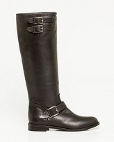 Le Château Leather Knee-high Buckled Boot