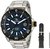 Rip Curl Men's 'DVR-200' Quartz Stainless Steel Sport Watch, Color:Silver-Toned (Model: A2872-BLK)