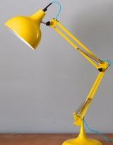 The Forest & Co. - Clementine & Blue Flex Angled Desk Lamp - orange & Blue Flex - Yellow/Blue