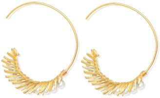 Ottoman Hands Despina Pearl Bead Through Earrings