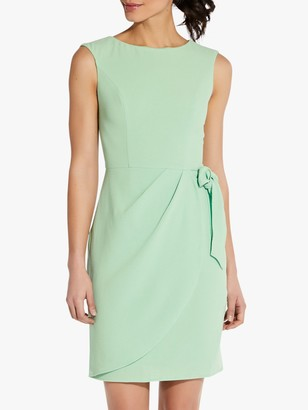 Adrianna Papell Cameron Draped Tie Waist Dress, Spring Green