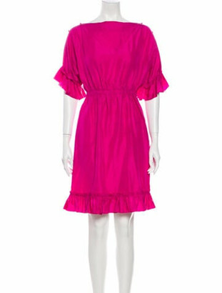 Dolce & Gabbana Silk Mini Dress Pink