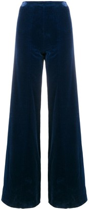 Emanuel Ungaro Pre Owned High Rise Flared Trousers