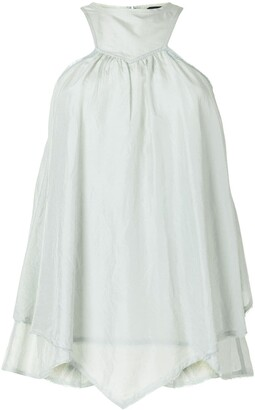Fendi Pre Owned Gathered Sleeveless Blouse